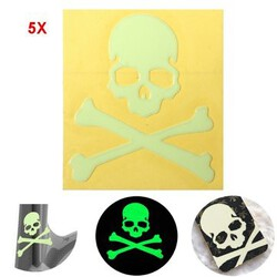 Glow Skull Sticker Dark The Noctilucent 5pcs Motorcycle Car Bike