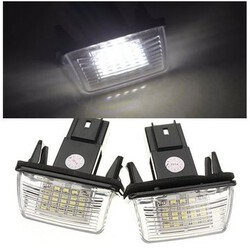LED SMD License Number Plate Light Peugeot Citroen 2Pcs