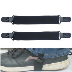 Clips Motorcycle Biker Elastic 2Pcs Ends Boot Straps