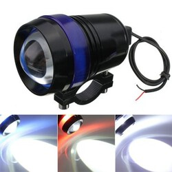 12V Spot Headlight LED Angel Eye Hi Lo 30W Motorcycle Flash Driving Fog Lamp U3