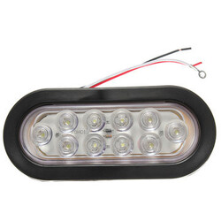LED Car Tail Lamp Light Rear Oval Stop Turn 6 Inch Sealed