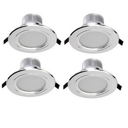 Warm White 4 Pcs Smd 3w Led Recessed Lights Cool White Decorative Ac 85-265 V