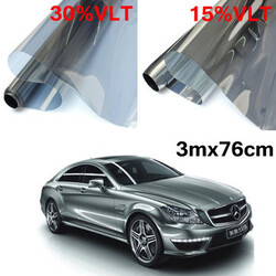 Mirror 3mx76cm Car Auto Silver Roll LVT Window Glass Tint Film Tinting