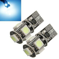 T10 Ice Blue Canbus Error Free SMD LED Car Light Bulbs