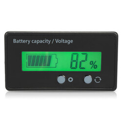 LCD Lithium Battery Digital Voltmeter 12V Indicator Lead Capacity Acid