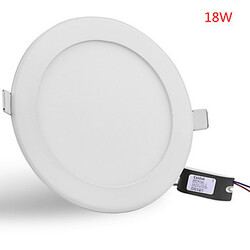 Ceiling Lamp Downlight Round 85-265v Panel Light 18w Recessed 1600lm Led