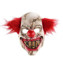 Clown Full Face Latex Mask Masquerade Party Scary Creepy Horror Halloween Evil