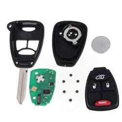 Uncut Combo Transmitter Chrysler Jeep Remote Keyless Entry Fob