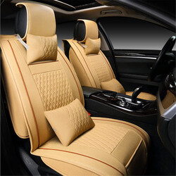 Headrest Seats Seat Cover Cushion Car PU Leather Lumbar Front Rear Pillow